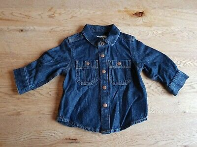 NEXT DENIM SHIRT Baby Boys Dark Blue 3-6 Months - NEW