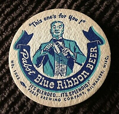 Pabst Blue Ribbon Beer Coaster- Milwaukee, Wisconsin. !!