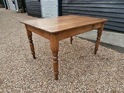 CHARACTERFUL 19th CENTURY PINE FARMHOUSE KITCHEN DINING TABLE WE CAN DELIVER