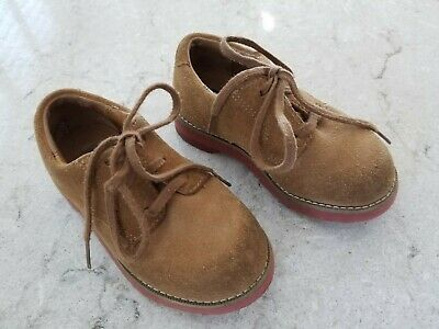 Sperry Top Sider Tevin Boys Shoes Oxford Toddler Size 7M Suede Leather