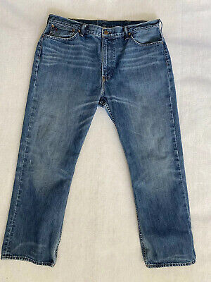 Polo Ralph Lauren 15941 Mens Size 38 x 30 Straight Leg Blue Jeans