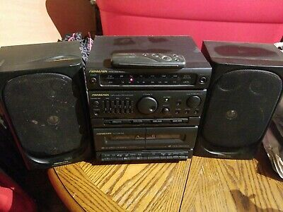 Soundesign 5826ABB Dual Cassette Radio Recorder Stereo w remote Vintage Working!