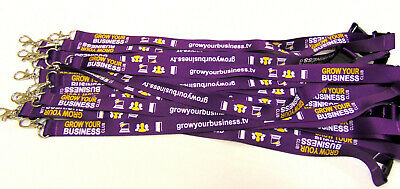100 Fully Personalised Lanyards,Your Logo,Text or Image,10mm High Quality  UK