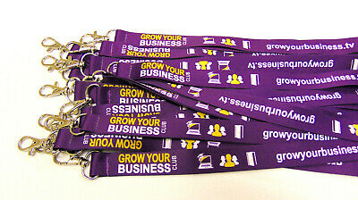 100 Fully Personalised Lanyards,Your Logo,Text or Image,15mm High Quality  UK