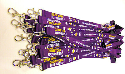 100 Fully Personalised Lanyards,Your Logo,Text or Image,20mm High Quality