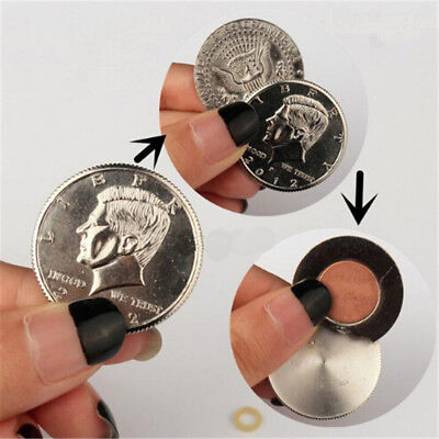 Magnetic Butterfly Coin&Money Magic Coin(made of Half Dollar copy )Magic Prop SJ