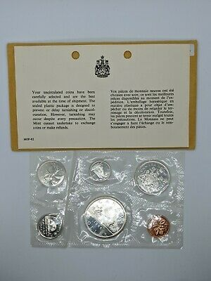 1966 Canada Proof Like Mint Coin Silver Set Original Envelope Lot Uncirculated