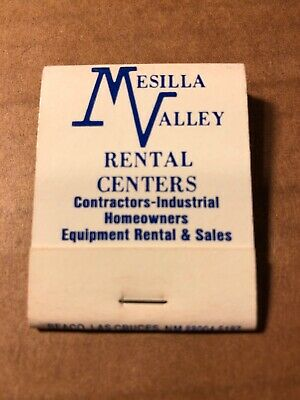 Mesilla Valley Rental Centers Vintage Matchbook, Las Cruces, New Mexico