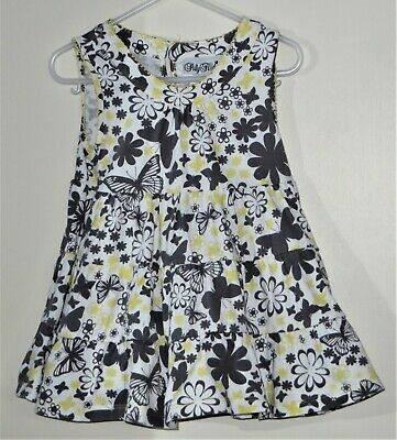 POLLY FLINDERS Size 2 Multicolor Floral Sleeveless Round Neck Ruffles Dress