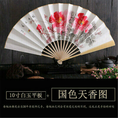 Chinese Style Arts and Crafts Traditional Fan Handmade Xuan Paper Bamboo Fan