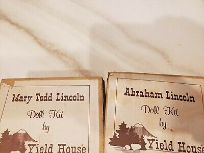 Abraham & Mary Todd Lincoln Porcelain Doll Kit By Yield House #3006046 & 3036142