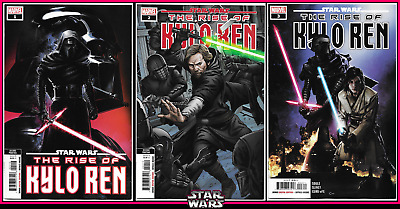 Star Wars Rise Of Kylo Ren #1 2 3 Variant Set 1St 2Nd Print Clayton Crain 9.4 Nm