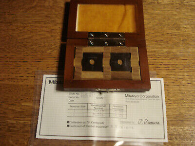 Mitutoyo Steel Gage Block 2 pc Set 1mm / 39.37 Grade 1 Gage Blocks New w/ cert