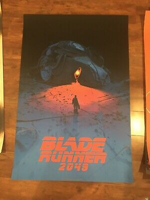 SDCC 2019 Mondo Blade Runner 2049 variant Signed Pascal Blanche Print Poster