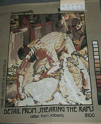 NEW  Baxtergrafik TAPESTRY CANVAS - Detail from Shearing The Rams - Tom Roberts