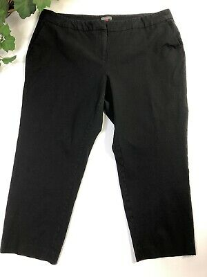 Vince Camuto Womens Pants Black Size 18W Plus Mid-Rise Solid Stretch