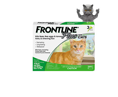 Frontline Plus for your Cats Flea and Tick Control and Treatment 3-Doses