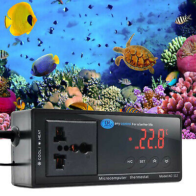 Digital Reptile Aquarium Thermostat Heat Mat Temp Control Incubator For Lizard