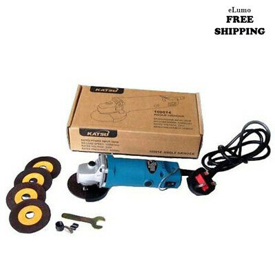 """Electric Mini Tool Angle Grinder 75mm 3"""" 280 Watts With Cutting Disks DIY Garage"""