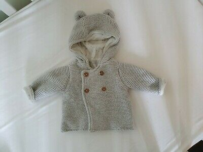 Marks And Spencers Up To 1m Grey Bear Thick Cardigan