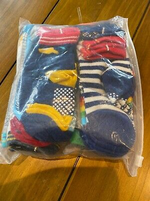 12 X Boys Socks Size 3-5 Gripper Soles