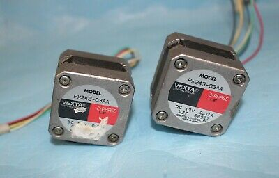 lot 2 of ORIENTAL VEXTA PX243-03AA 2-Phase 1.8° STEP Stepping MOTOR