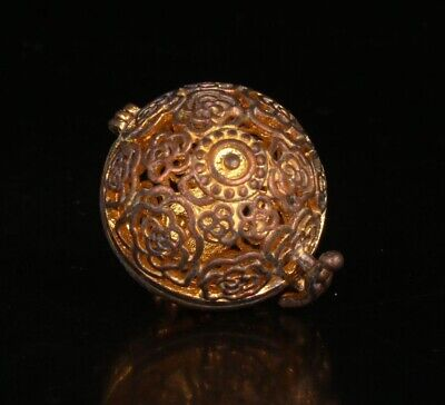 Chinese Copper Incense Burner Pendant Old Precious Christmas Gift