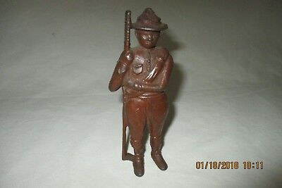 Vintage A.C.Williamson BOY SCOUT Cast Iron Penny BANK