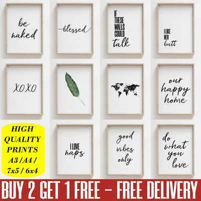 Living Room Prints Black and White Funny Bathroom Wall Art Pictures Poster