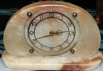 Decorative Art Deco Marble, Onyx Mantle Clock Possibly Overwound ?