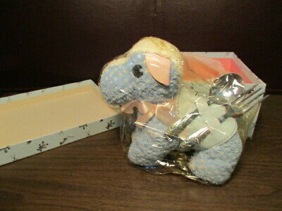 Vintage Baby Fork & Spoon - HOLMES & EDWARDS - Stuffed Toy Dog Terry the Terrier