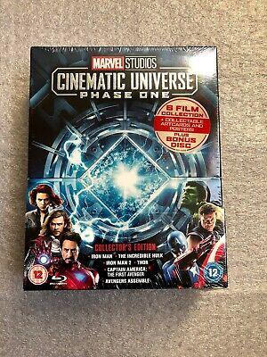 Marvel Cinematic Universe: Phase One (Collector's Edition) Blu-ray *New Sealed*
