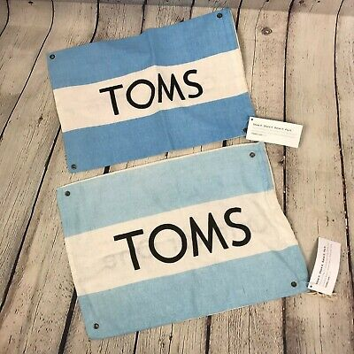 Toms Shoes Dust Bags Flags Lot of 2 New with Tags Cloth Drawstring Shoe Bags