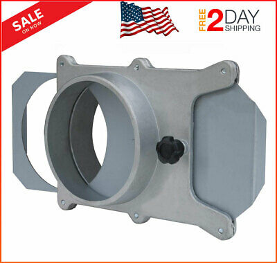 4 Inch Aluminum Blast Gate for Vacuum Dust Collector Easy Sliding Gate Action US