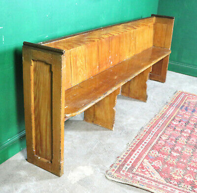 Vintage Pew, Long Bench, Pine, Refurb Project, Kitchen Seating, Farmhouse Church