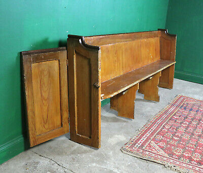 Long Vintage Church Pew, Bench, Pine, Refurb Project, Farmhouse Kitchen Seating