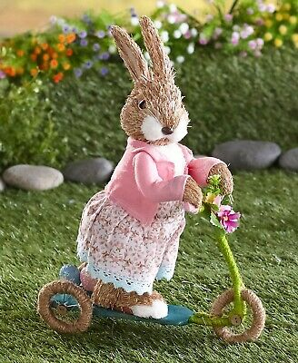 On-the-Go Easter Bunny Figure Spring Home Decor - Scooter