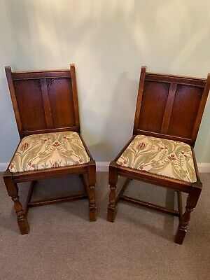 Antique Pair Of Early 20th Century Oak Arm Chairs Arts And Crafts Carver Chairs
