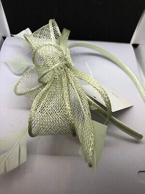 Mint Green Small Headband Fascinator Special Occasion Wedding Christening Races