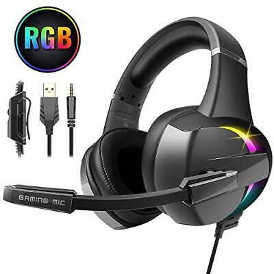 Beexcellent Gaming Headset, 7 Farbe RGB-LED Licht, Surround Mid