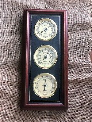 Vintage Springfield Instruments Weather Station Thermometer Barometer Humidity