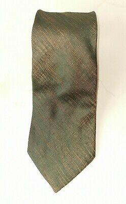 """Dolce And Gabbana Olive Green And Gold Mix 100 % Silk Tie W 4 """" L 61"""""""