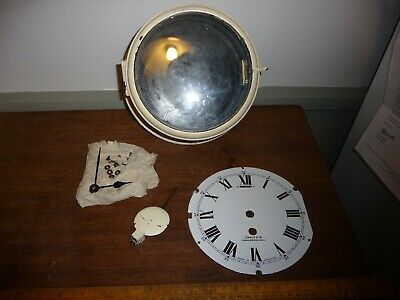 Antique Smiths Bulkhead clock for parts .Case with good enamel dial - Smiths