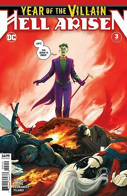 Year Of Villain Hell Arisen #3 2Nd Print Recolored Punchline 2020 Nm Or Better