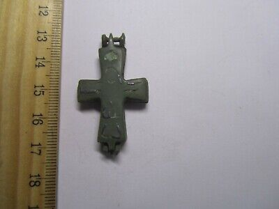 Byzantine Empire (6th-8th century) Engolpion Cross Reliquary. Ancient cross