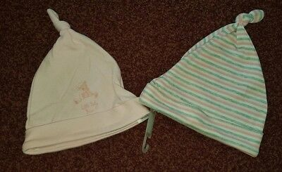 BNWT Next Hats in Pink and Grey - Age 3-6 Months