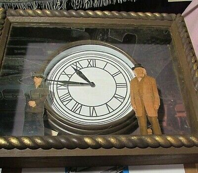 BACK TO THE FUTURE real  CLOCK  doc and marty  LOOK AND num 545  PROP