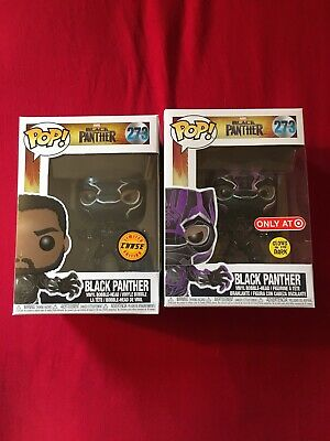Funko Pop Black Panther Chase And Purple Suit Target Exclusive Glow In The Dark