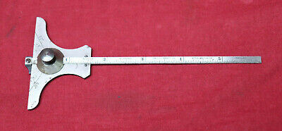 Starrett No. 236H Tempered Hook Rule For Combination Depth Angle Gauge