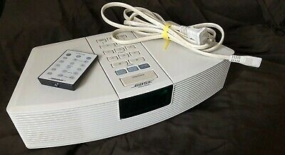 Bose Wave Radio Awr1-1W Factory Renewed White Remote & Cable Working